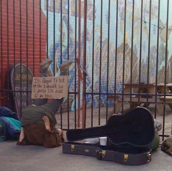 These Homeless People Came Up With The Most Genius Signs