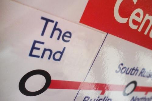 Fake signs in London underground