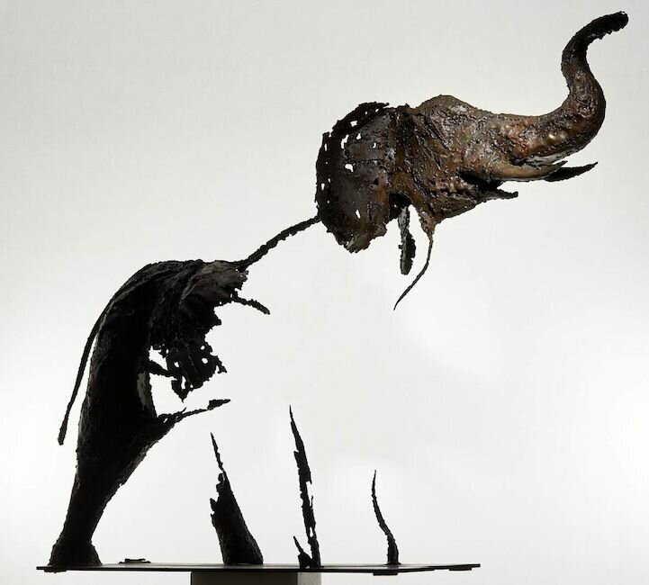 Vanishing Animal Sculptures by Pascal Chesneau