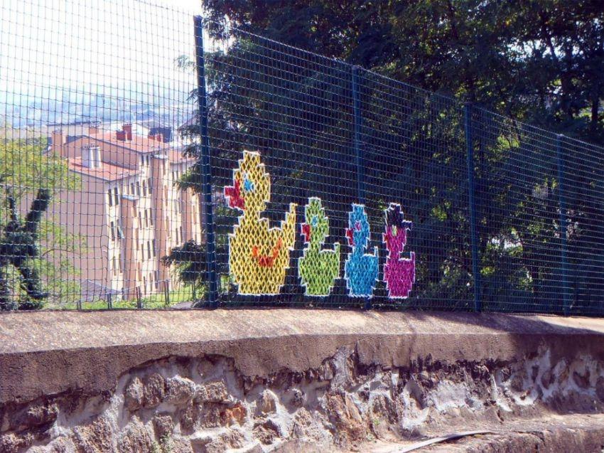 Colorful Cross-Stitch Murals