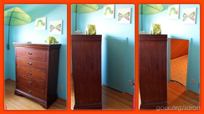 What's Hiding Behind This Dresser Is The Best Idea Ever.