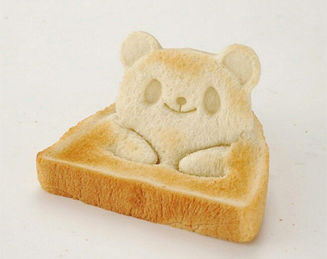 Adorable Teddy Bear Shaped Toast Sits Up For Breakfast