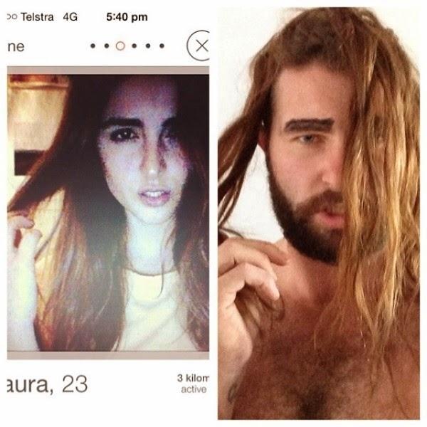 Guy recreates girls' photos on Tinder