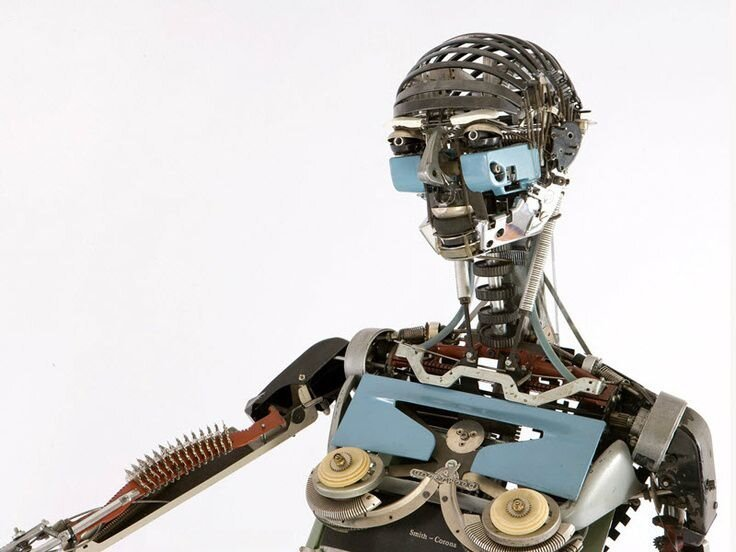 Artist Turns Typewriters Into Life-Size Human And Animal Sculptures