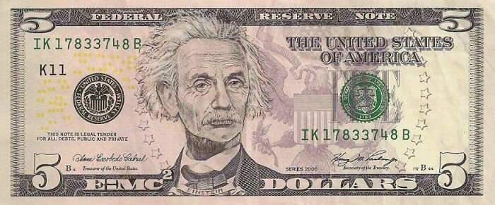 Dollar Bills Turned Into Portraits of American Icons