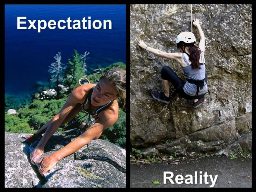 Sometimes expectations don't always match up with reality