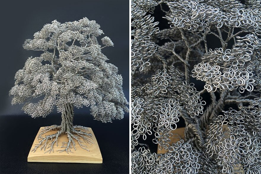 Single Wire Tree Sculptures