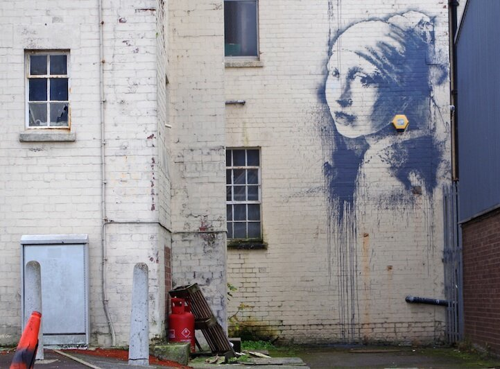 "New Banksy Piece: ""The Girl with the Pierced Eardrum"""