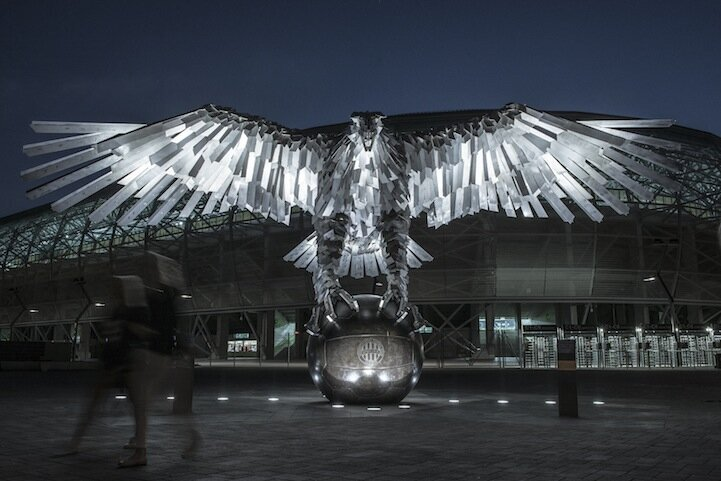 Enormous Eagle Sculpture is Largest Bird Monument in Europe