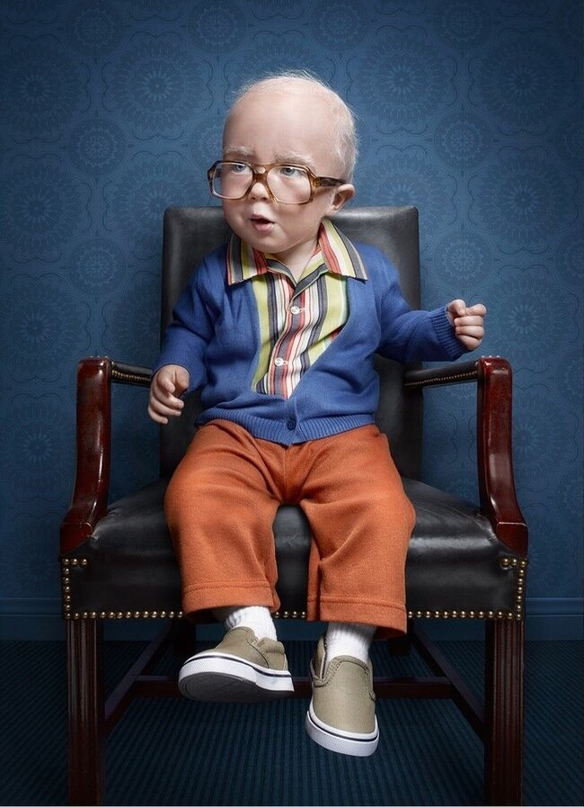 Photos Of Adorable Toddlers With Old Souls Made To Look Like Seniors