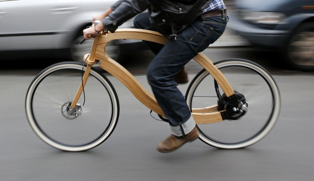 A Wooden e-Bike