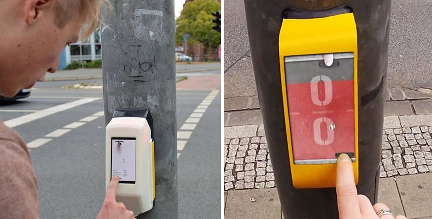 Crosswalk That Lets You Play Pong