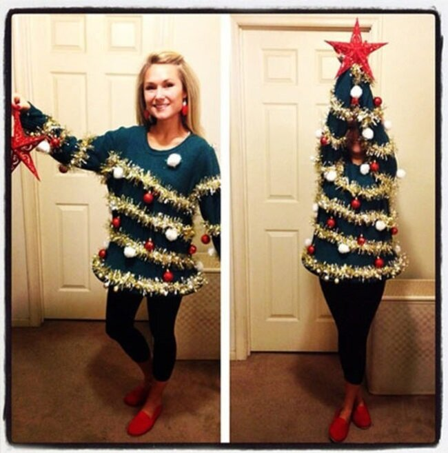 20 People Who Have Taken This Ugly Christmas Outfit Trend Way Too Far