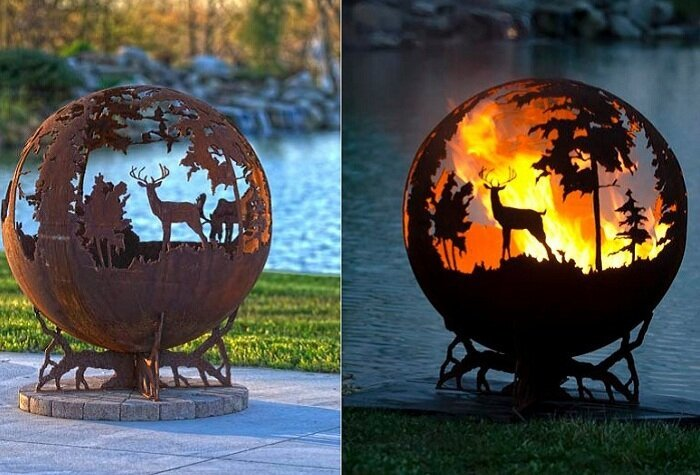 Forest Fire Pit by Melissa Crisp