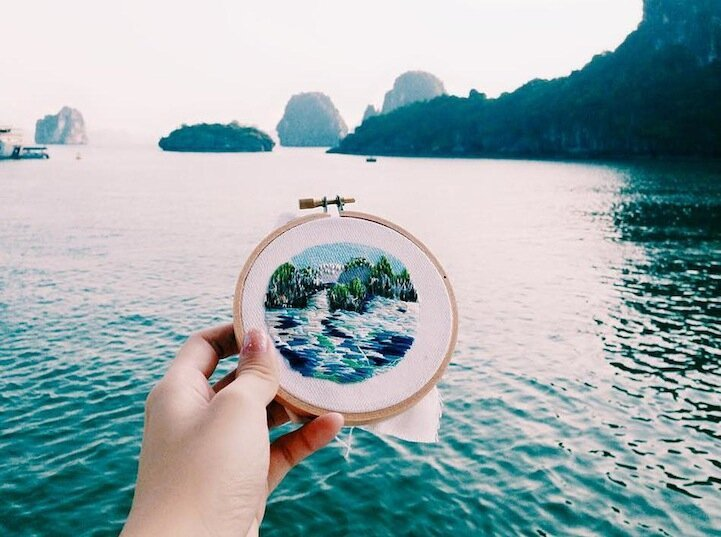 Textile Artist Creates Travel Snapshots