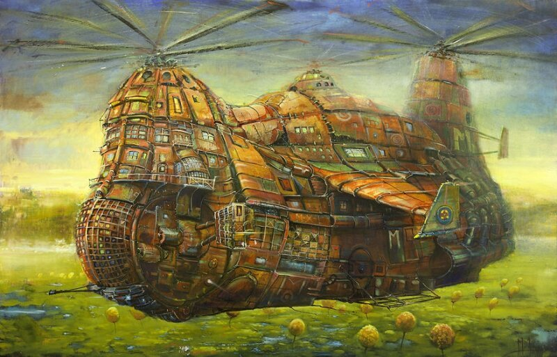 Otherworldly Vehicles In Oil Paintings By Lithuanian Artist