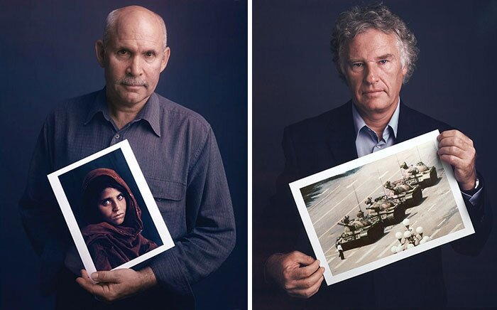 Famous Photographers Pose Behind Their Iconic Images
