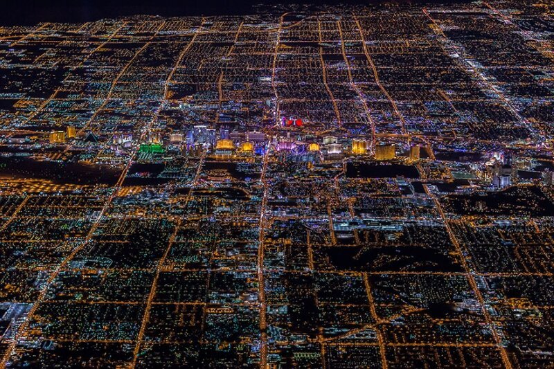 Las Vegas From 10,800 Feet Up