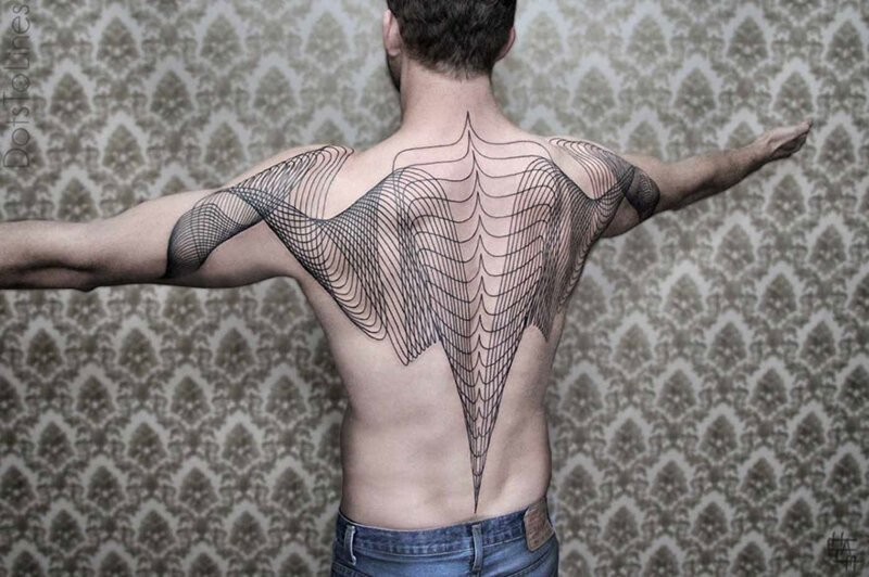 Geometric Line Tattoos By Chaim Machlev