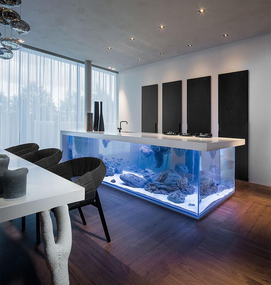 This Kitchen Island Is Also A Giant Aquarium