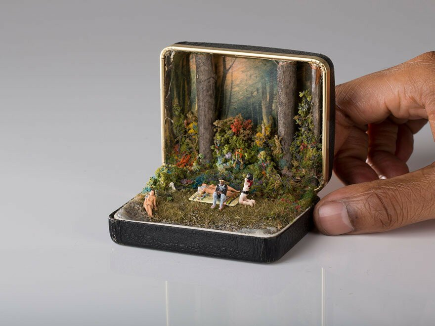 Vintage Ring Boxes Turned Into Detailed Historical Dioramas By Talwst