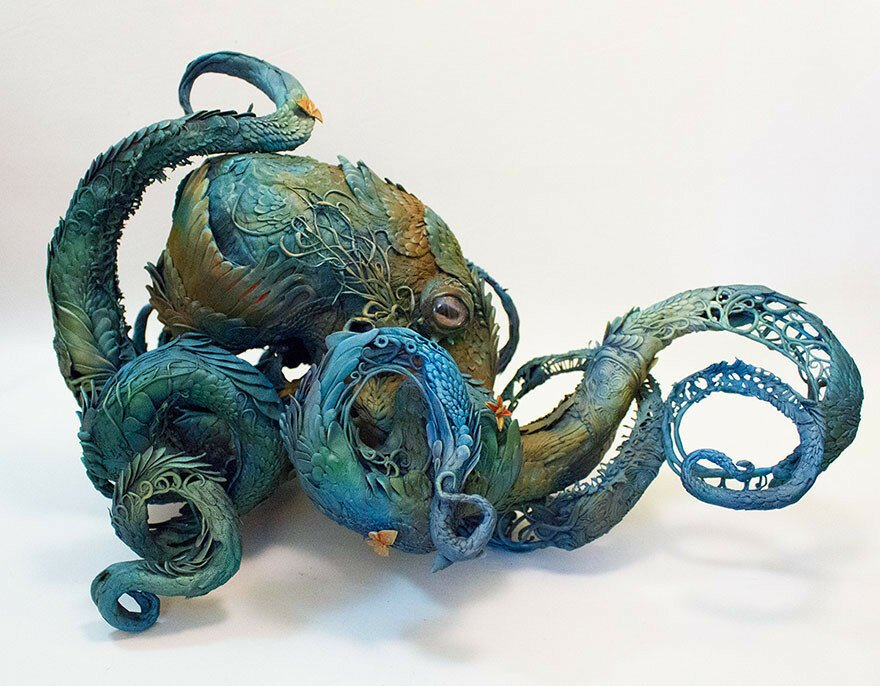 Sculptor Merges Animals And Plants In Otherworldly Sculptures