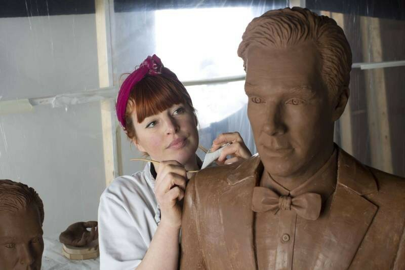 Benedict Cumberbatch Got Turned Into A Life-Size Chocolate Sculpture
