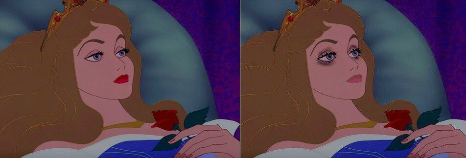 If Disney Princesses Wore Realistic Makeup