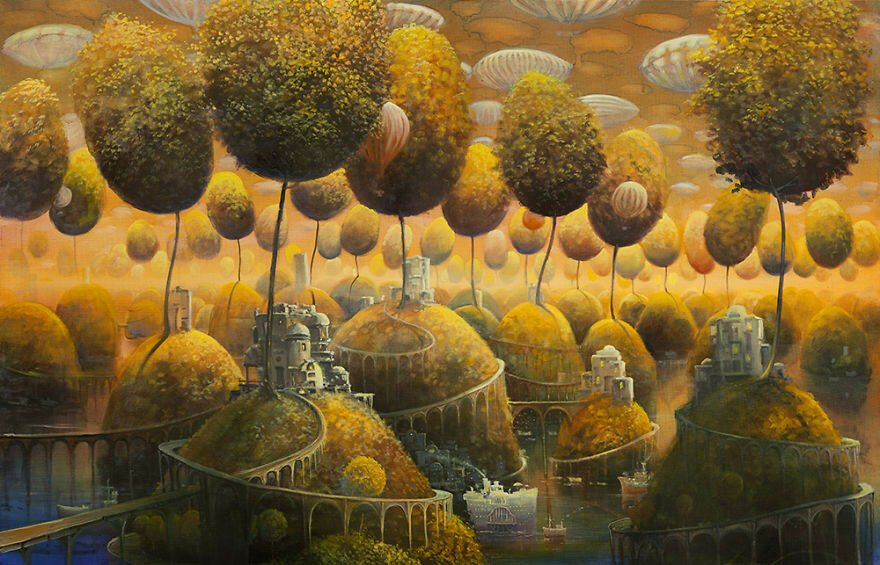 Surreal Worlds Oil-Painted By Modestas Malinauskas