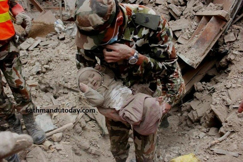 4-Month-Old Baby Trapped In Nepal Earthquake Rubble Finally Rescued