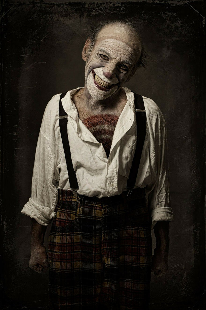 Spine-Chilling Clown Portraits