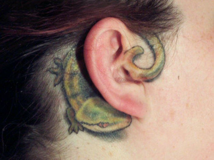 50 Creative Ear Tattoos
