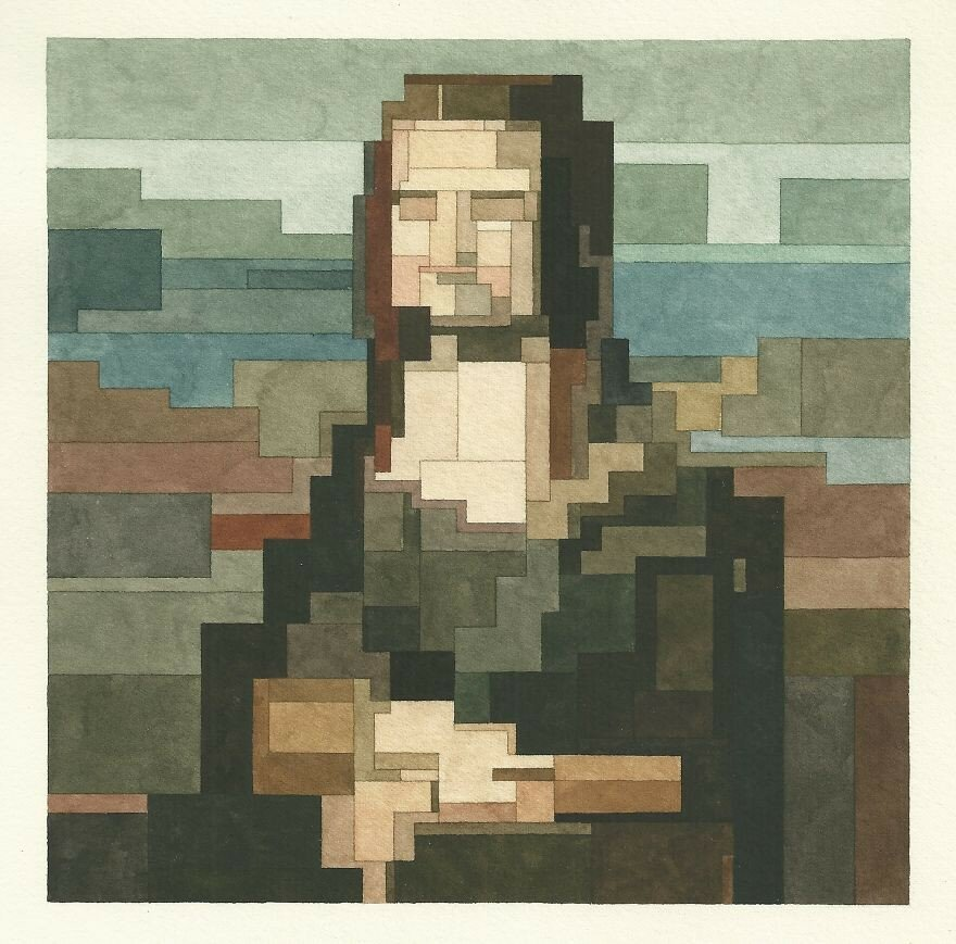 My 8-Bit Watercolors Based On Famous Artworks