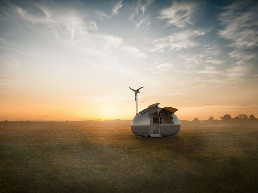 Tiny Wind & Solar Powered Home Lets You Live Off The Grid Anywhere In