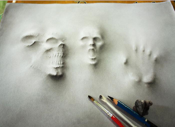 3D Pencil Illustrations