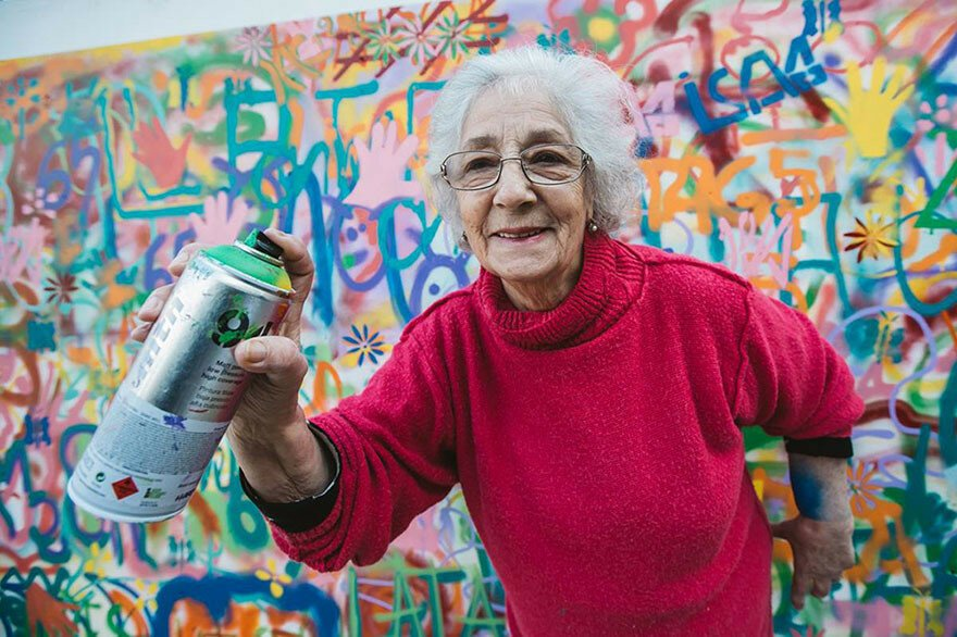 Awesome Elderly Street Artists Destroy Age Stereotypes In Portugal