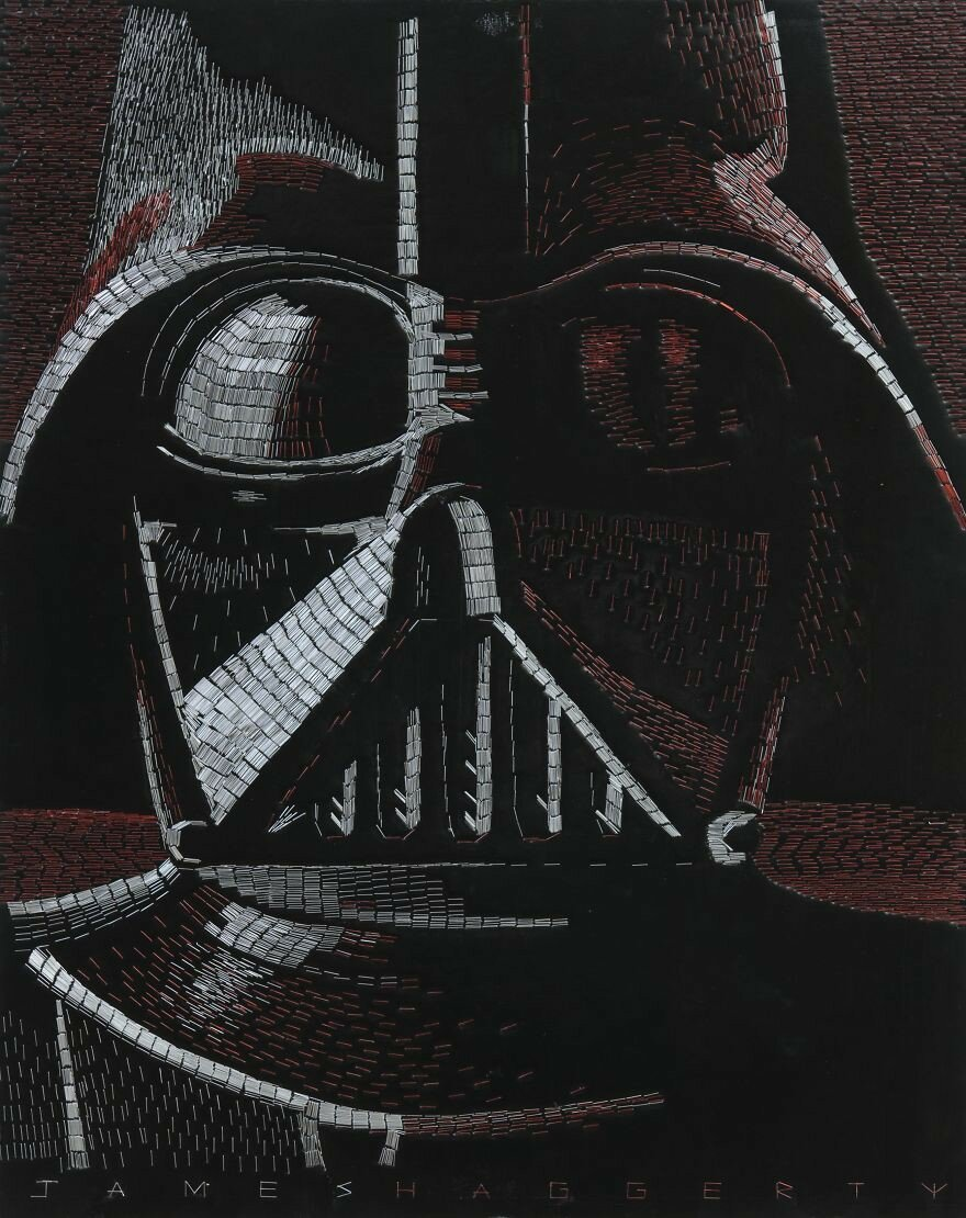 I Used 77,886 Office Staples To Create These Star Wars Characters