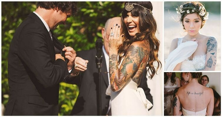 15 Stunning Brides With Tattoos