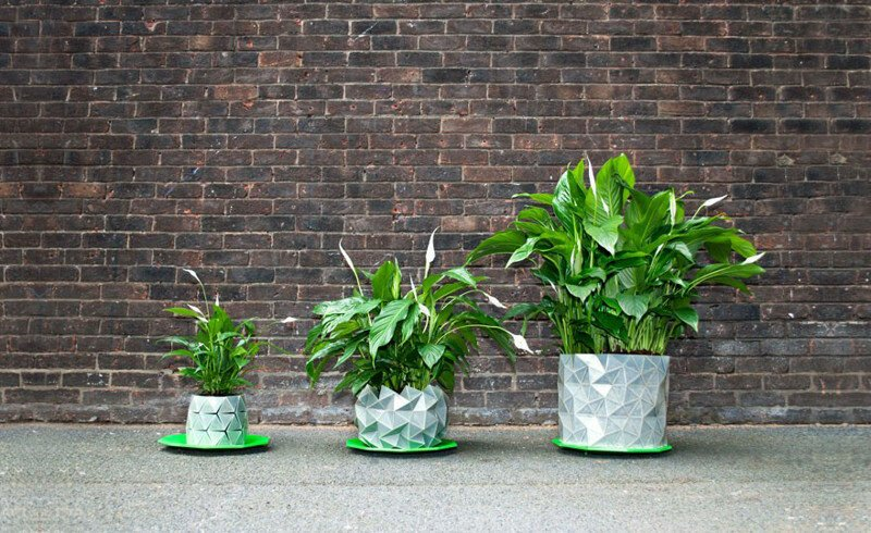 Shape-Shifting 'Origami' Pots That Grow Together With Your Plants