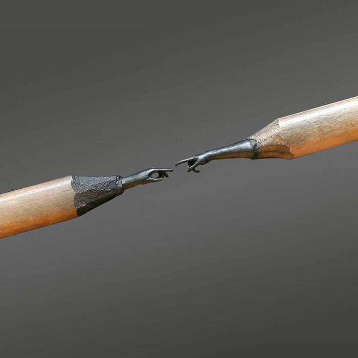Stunningly Detailed Sculptures Carved From Pencil Tips By Bosnian Arti