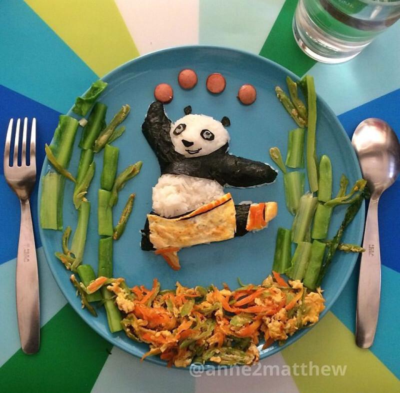 She Makes Panda-Inspired Food For Her 4 Children