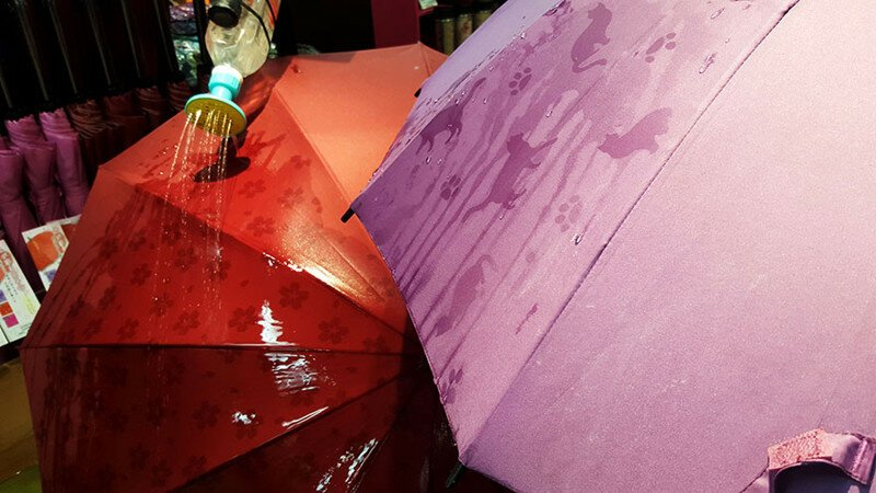 These Japanese Umbrellas Reveal Hidden Patterns When Wet