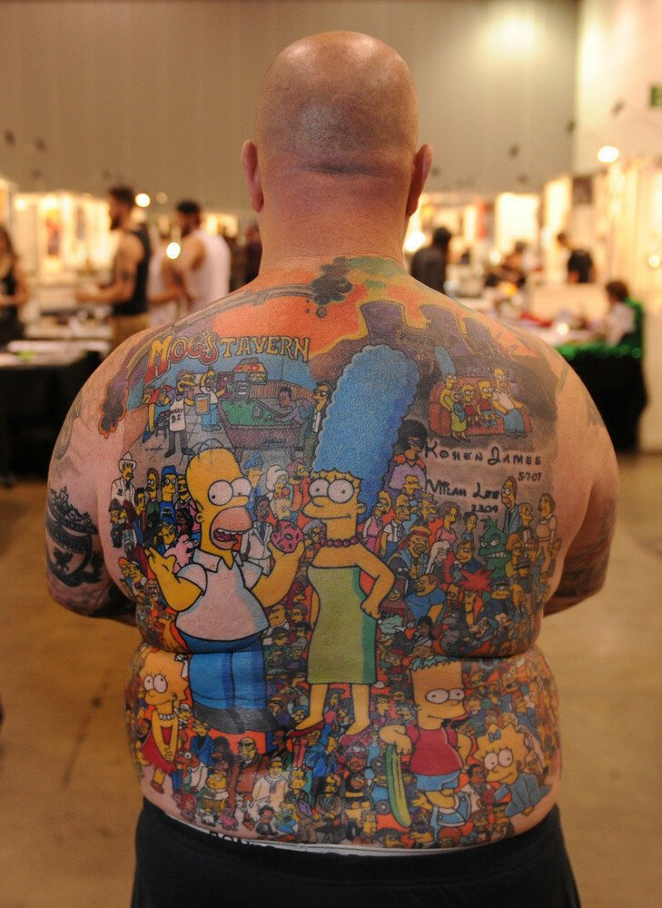 After He Got 200 Simpson's Tattoos, This Grandfather Set A New World R