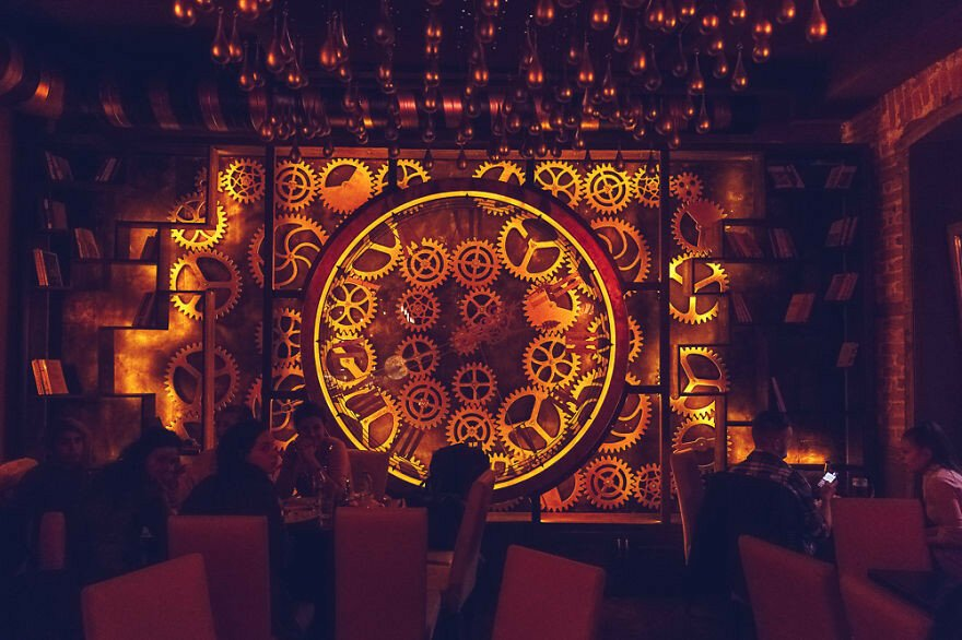 The First Kinetic Steampunk Bar In The World Opens In Romania, Enigma Café