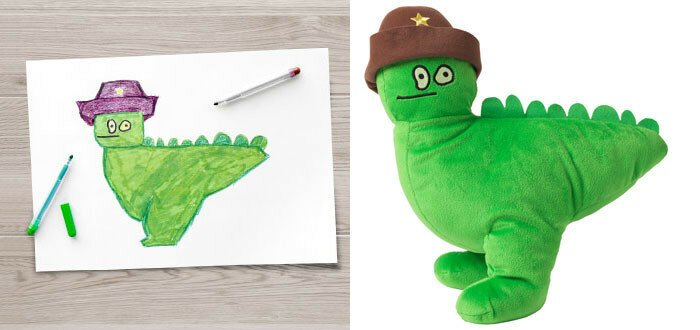 IKEA Turned Children's Drawings Into Real Plush Toys To Raise Money For Charity