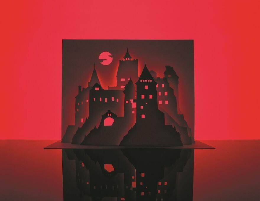Artist Cuts Single Sheet Of Paper Into Halloween Scenes