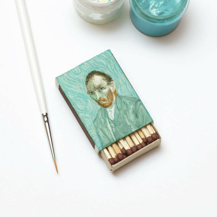 Van Gogh Paintings On Matchboxes