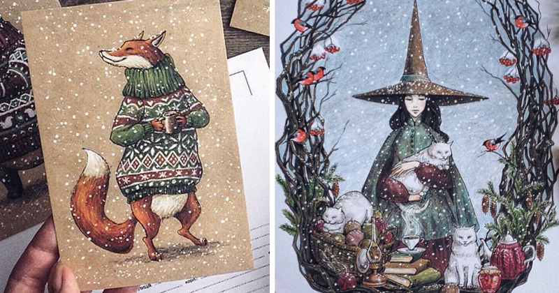 Fairytale-Inspired Color Pencil Drawings By Russian Artist