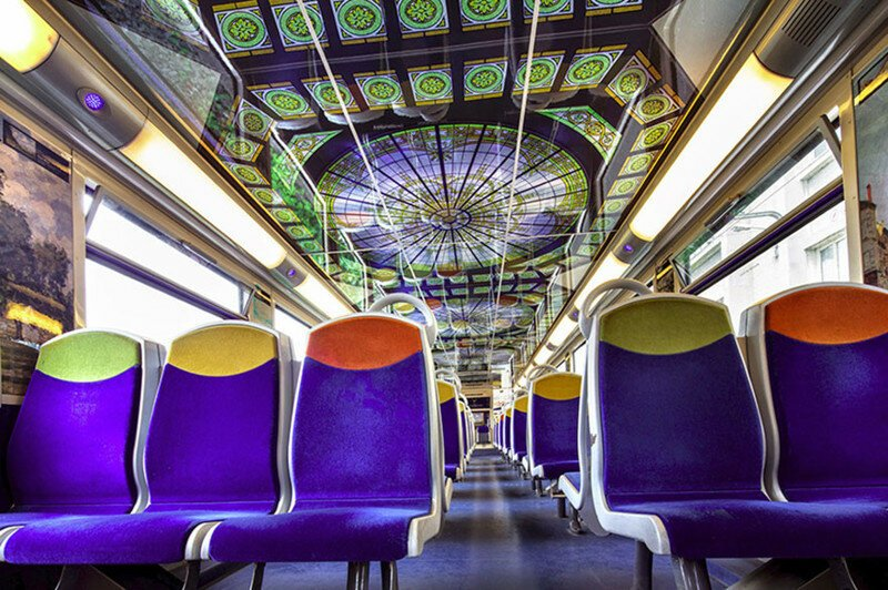 French Trains Are Being Turned Into Moving Art Museums