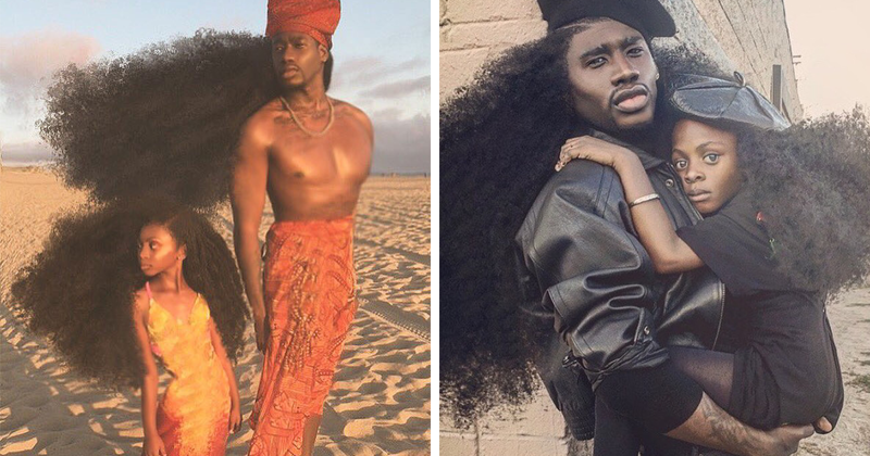 Father & Daughter Duo Takes Over The Internet With Their Natural Hairdos